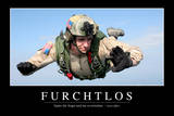 Furchtlos: Motivationsposter Mit Inspirierendem Zitat Photographic Print