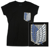 Juniors: Attack on Titan - Survey Corps T-shirts