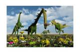 A Conceptual Dinosaur Garden Print