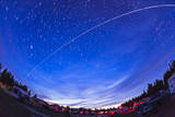 Trail of the International Space Station as it Passes over a Campground in Canada Photographic Print
