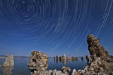 Moonlight Illuminates the Tufa Formations at Mono Lake, California Photographic Print
