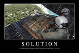 Solutions: Citation Et Affiche D'Inspiration Et Motivation Photographic Print
