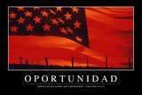 Oportunidad. Cita Inspiradora Y Póster Motivacional Photographic Print