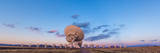 The Very Large Array Radio Telescope in New Mexico at Sunset Photographic Print