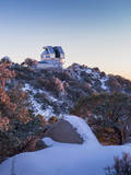 The Wiyn Observatory on Top of Snow Capped Kitt Peak, Arizona Photographic Print