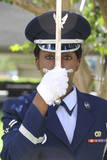 Honor Guard Places a Saber in Front of Her Face Photographic Print
