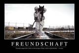Freundschaft: Motivationsposter Mit Inspirierendem Zitat Photographic Print