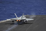 An F-A-18C Hornet Taking Off from USS Dwight D. Eisenhower Photographic Print