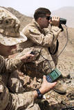 U.S. Marines Gauge Distances of Targets While Training Photographic Print