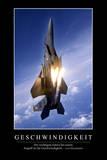 Geschwindigkeit: Motivationsposter Mit Inspirierendem Zitat Photographic Print