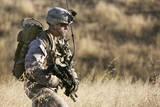 U.S. Marine Patrols across the Hills of Range 800 Photographic Print