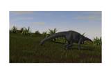 Brachiosaurus Grazing in a Grassy Field Print