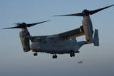 An MV-22 Osprey Prepares to Land on the Flight Deck of USS Anchorage Photographic Print