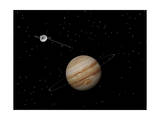 Voyager Spacecraft Near Jupiter and its Unrecognized Ring Prints
