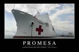 Promesa. Cita Inspiradora Y Póster Motivacional Photographic Print