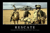 Rescate. Cita Inspiradora Y Póster Motivacional Photographic Print