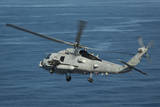 An Mh-60R Sea Hawk Maneuvers over the South China Sea Photographic Print