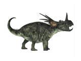Styracosaurus, a Herbivorous Ceratopsian Dinosaur Poster