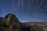 Star Trails Above the San Ysidro Mountains, California Photographic Print