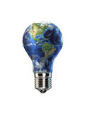 Light Bulb with Planet Earth Inside Glass, Americas View - Tablo
