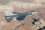 F-16C Fighting Falcon Flying over the Grand Canyon, Arizona Photographic Print