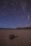 Star Trails at the Racetrack Playa in Death Valley National Park, California Photographic Print