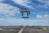 A U.S. Navy Mh-60S Seahawk Helicopter Prepares to Land Photographic Print