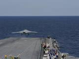 An X-47B Unmanned Combat Air System Launches from USS George H.W. Bush Photographic Print