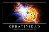 Creatividad. Cita Inspiradora Y Póster Motivacional Photographic Print