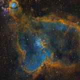 Ic 1805, the Heart Nebula Photographic Print