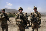 U.S. Troops Survey the Land in Afghanistan Photographic Print