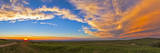 Panoramic View of Sunset at Reesor Ranch, Near Cypress Hills, Alberta, Canda Photographic Print