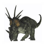 Styracosaurus, a Herbivorous Ceratopsian Dinosaur Posters