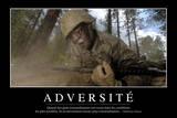 Adversité: Citation Et Affiche D'Inspiration Et Motivation Photographic Print