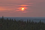 Sunset at Horseshoe Canyon, Cypress Hills Interprovincial Park, Alberta, Canada Photographic Print