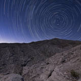 Star Trails Above Coachwhip Canyon in Anza Borrego Desert State Park, California Photographic Print