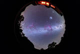 A Fish-Eye 360 Degree Image of the Entire Southern Sky Photographic Print