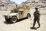 U.S. Air Force Soldier Guides an Afghan Border Police Vehicle Photographic Print