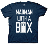 Dr. Who - Mad Man With a Box Verbiage T-shirts