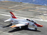 A T-45C Goshawk Lands on the Flight Deck of USS Ronald Reagan Photographic Print