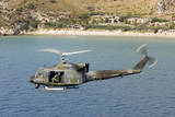 Italian Air Force Ab-212 Ico Helicopter in Flight over Italy Photographic Print