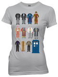 Juniors: Doctor Who - Doctor Outfits T-shirts