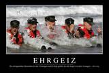 Zielstrebigkeit: Motivationsposter Mit Inspirierendem Zitat Photographic Print