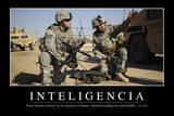 Inteligencia. Cita Inspiradora Y Póster Motivacional Photographic Print