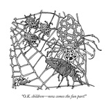 """O.K. children—now comes the fun part!"" - New Yorker Cartoon Premium Giclee Print by Gahan Wilson"