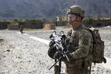 U.S. Army Soldier Provides Overwatch at an Airfield in Afghanistan Photographic Print