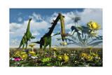 A Conceptual Dinosaur Garden Prints