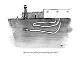 """Are you sure you've got everything this time?"" - New Yorker Cartoon Premium Giclee Print by Edward Steed"