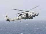 An Mh-60R Sea Hawk Helicopter Prepares to Land Photographic Print