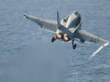 An F-A-18C Hornet Taking Off Photographic Print
